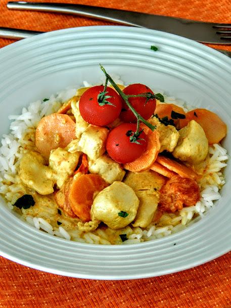 Poulet au curry à la thai.JPG