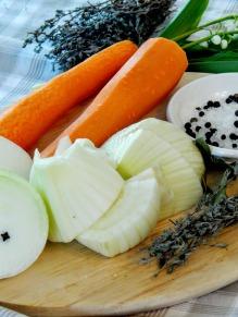 Ingrédients bouillon de légumes