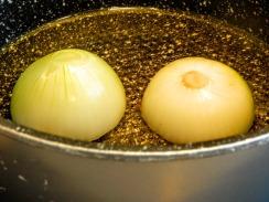 Oignons bouillons de légumes
