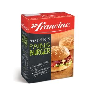 preparation pains à burger francine