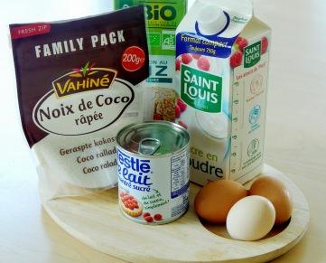 Ingrédients pour gâteau antillais